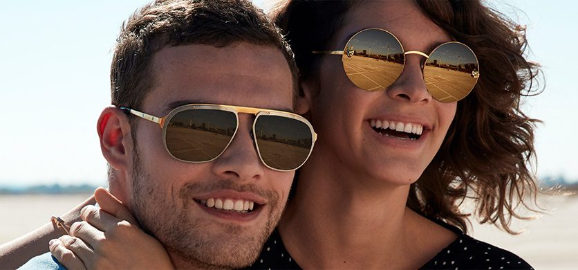 84eb34f194 Cartier Sunglasses from the Santos de Cartier Collection (left) and the  Panthère de Cartier Collection (right) this season